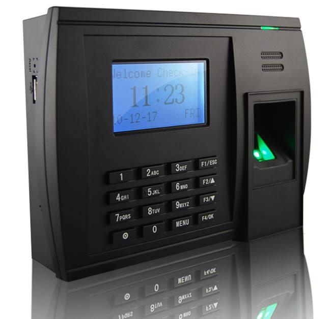Fingerprint Time Attendance System 205mm Fingerprint
