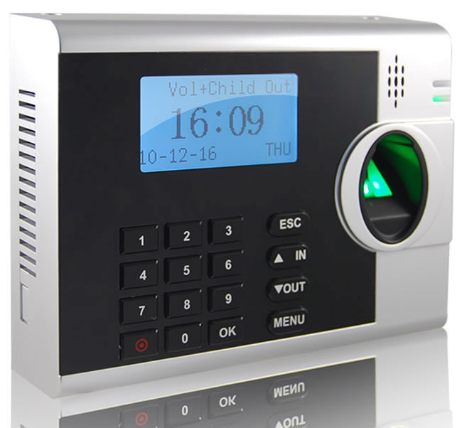 Fingerprint Time Attendance System 178mm Time Attendance